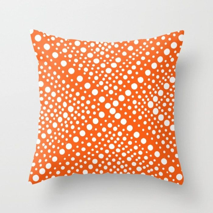 OUTDOOR Throw Pillow   Orange And White   Modern Geometric X Dot   Outdoor  Pillow Cover