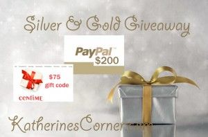 Silver and Gold Giveaway Time for another new giveaway!There are several giveaways going on here at Katherines Corner, that's right just call Katherines Corner giveaway central. You can find them all listed on my giveaway page .This month's Katherines Corner giveaway is just in time for the