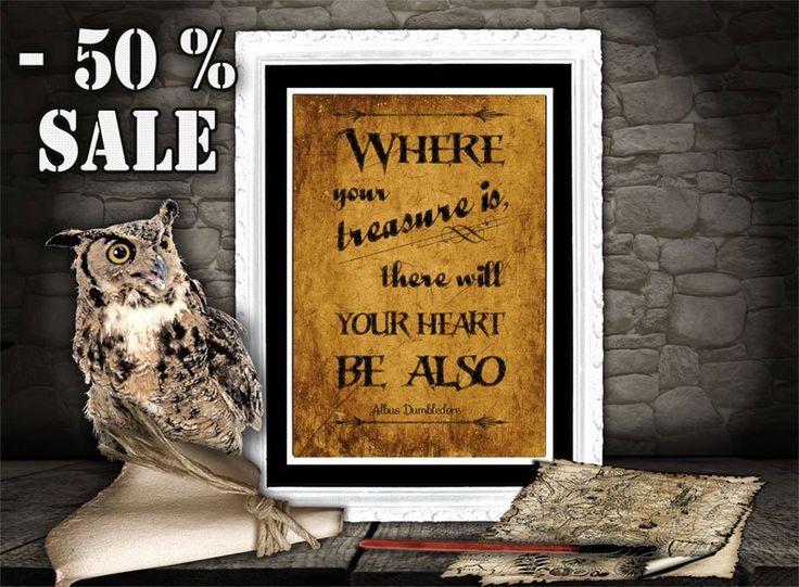 Harry Potter Art Print - Albus Dumbledore Quote - Printable Quote - Inspirational Art for Kids Room