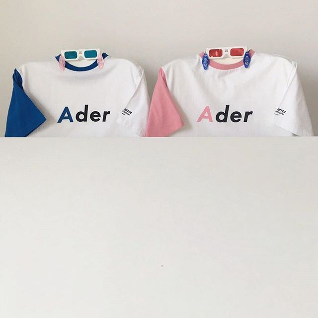 Twin look. pink&blue  #ader #adererror #fashion #minimal #wit #slogan #socks #black #design #designer #phone #photography