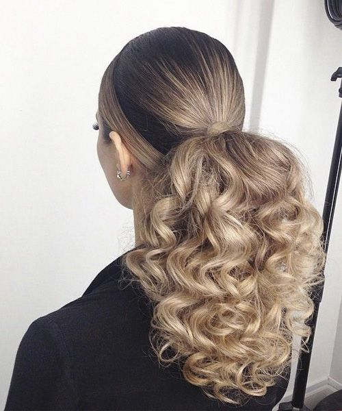 long hair ponytail styles 25 best ideas about curly ponytail hairstyles on 3229 | 36b5fddf0f0959f4e83fc4a022f2cacc curly ponytails curly ponytail hairstyles