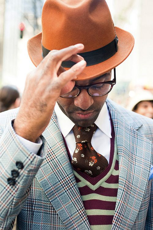 Love the different color combinations and patterns+ great hat!