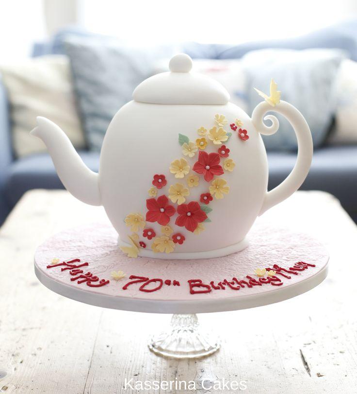 Tea Pot birthday cake by Kasserina Cakes
