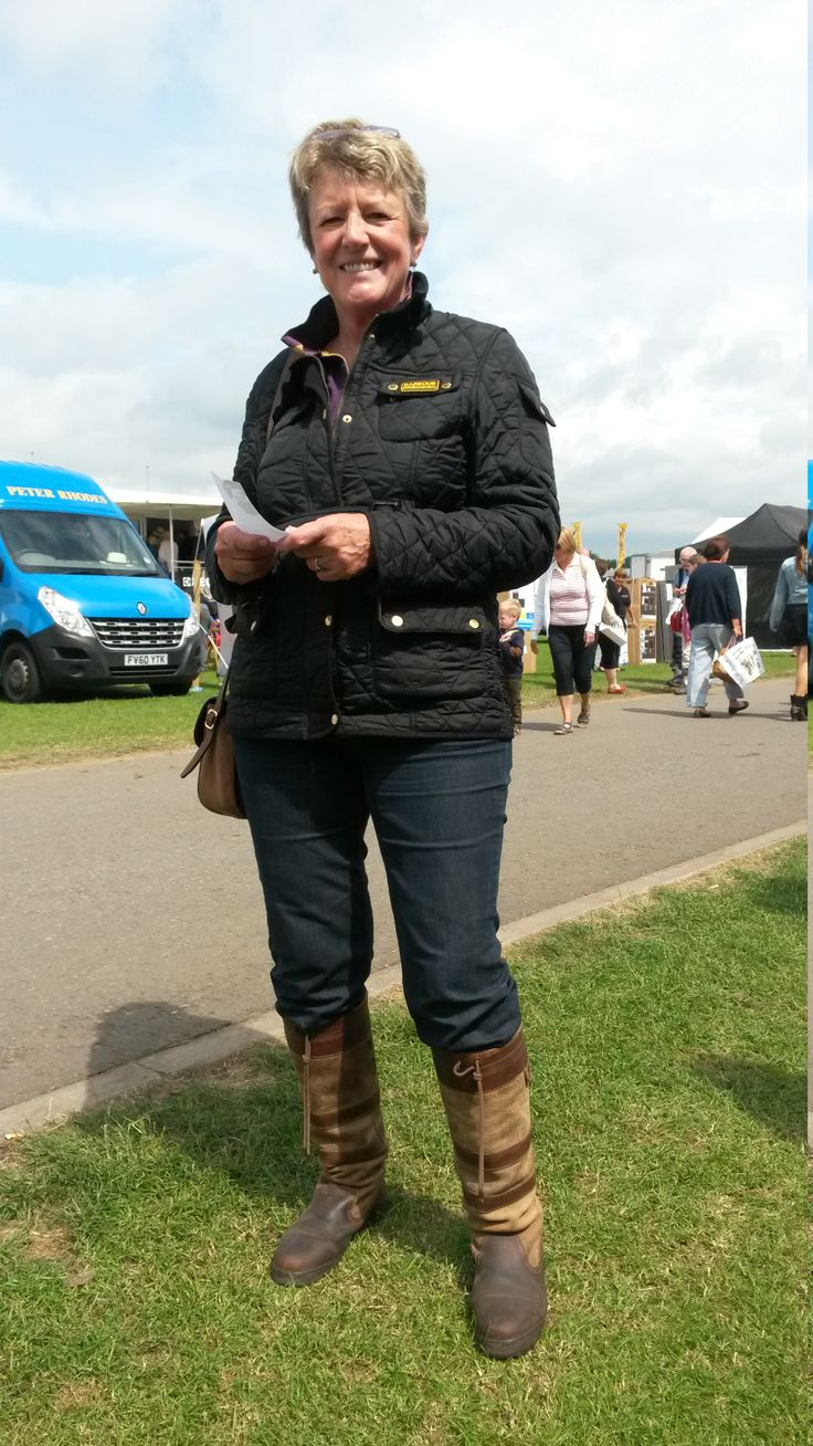 We love this take on biker chic, modelled by Karen from Kirmond-le-Mire. Pair up a fitted Barbour International quilted jacket with jeans and comfy Dubarry boots for a look that just can't go wrong. Karen - we salute your style!