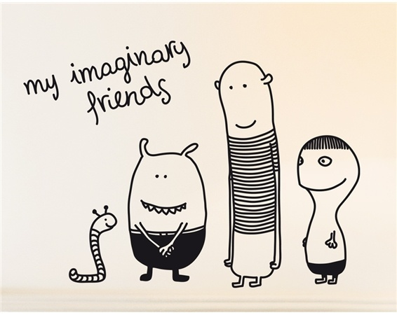 My imaginary friends - kids and babies wall stickers - by Bumoon made in France