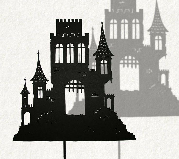 Castle / Shadow Theater Decor van IsabellasArt op Etsy, $15,50