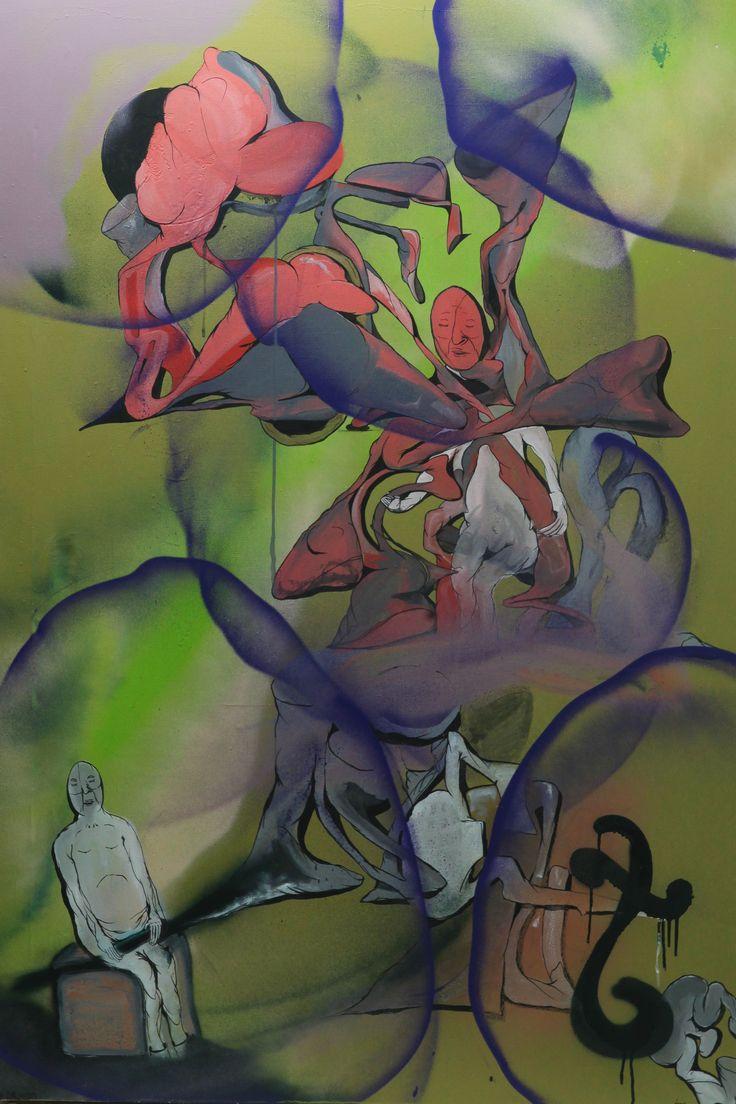 "Maxim Ima ""BEL FAR NIENTE"",  spray paint on canvas, 90 х 150, 2015 #современное #искусство #дизайн #интерьер #design #decor #interior #графика #живопись #contemporaryart #design #streetart #стритарт #abstraction #современноеискусство #арт #maximima"