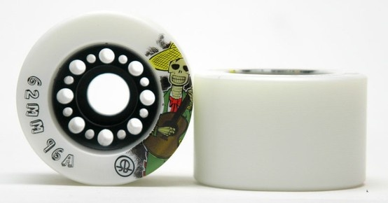 Rollerbones Day of the dead 96A- SET OF 4 $55.00