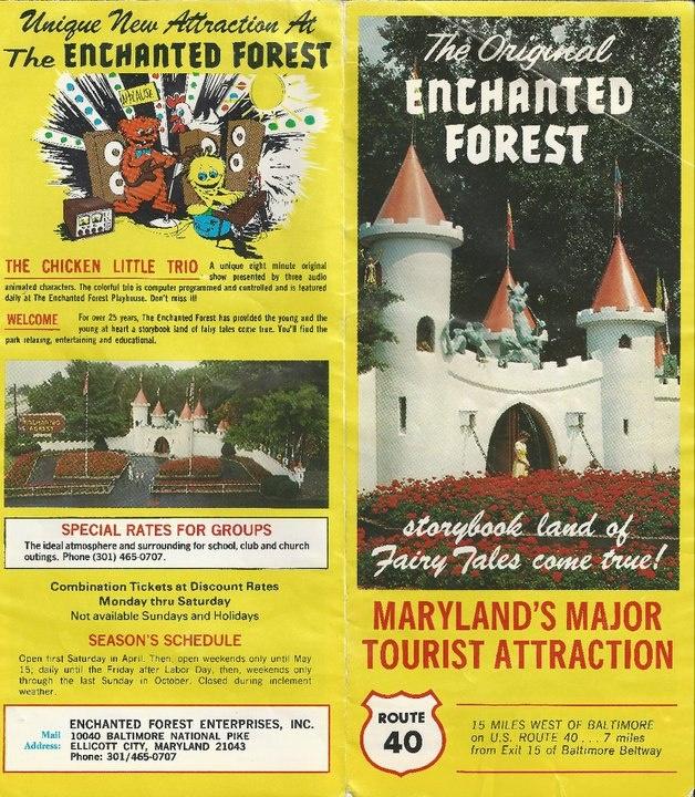 Enchanted Forest, Ellicott City Maryland.