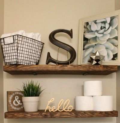 EASY, and INEXPENSIVE, DIY Faux Floating Shelves! I want these gorgeousshelves in every room of my house!