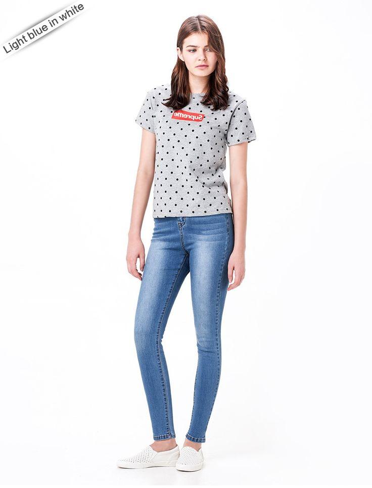 Aliexpress.com: Koop Mode S 6XL Hoge Taille jeans Hoge Elastische plus size Vrouwen Jeans vrouw femme gewassen casual skinny potlood Denim China van betrouwbare jean shirt leveranciers op Leiji Jeans