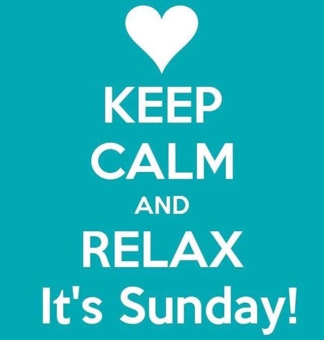 Keep kalm its sunday