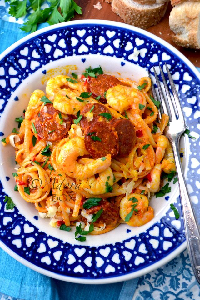 ADORA's Box: KING PRAWN AND CHORIZO LINGUINI