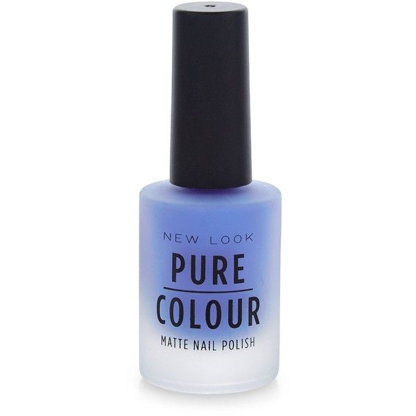 New Look Pure Colour Blue Matte Nail Polish ($4.29) ❤ liked on Polyvore featuring beauty products, nail care, nail polish and blue