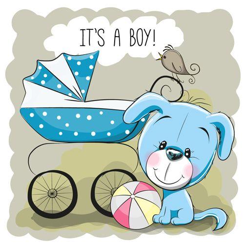 Design cute baby cards vectors set 10