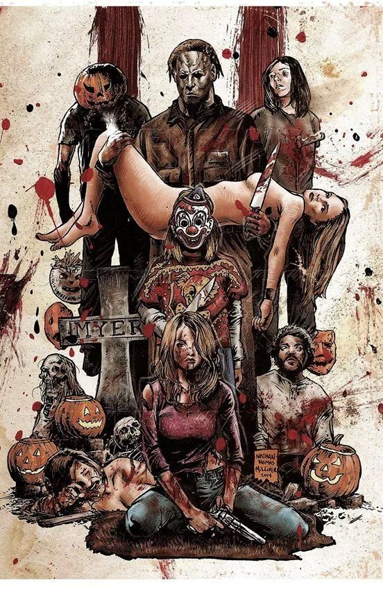 rob zombies halloween poster by nathan thomas milliner - Halloween Movie By Rob Zombie