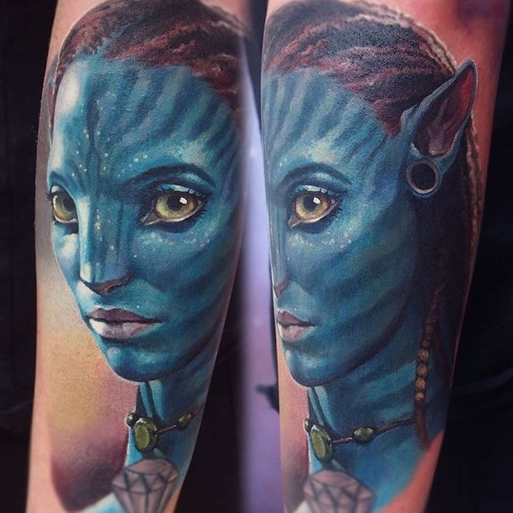 Avatar. Art and Realism in Tattoo Drawings. To see more art and information about Valentina Ryabova click the image.