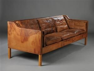 Borge Mogensen Sofa Beaten Leather