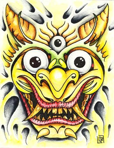 Flash tattoo acuarela (13,5X17,5cm)