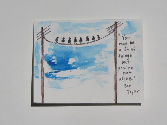 Encouraging Greeting Card With Bird Design by AnnaJaynesDesigns, $3.95
