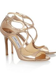 Jimmy Choo Lang mirrored leather sandals