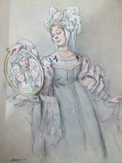 """The Beauty and the Beast dal libro """"Le fiabe meravigliose"""" Illustrations by  Marino (Marino Guarguaglini)"""