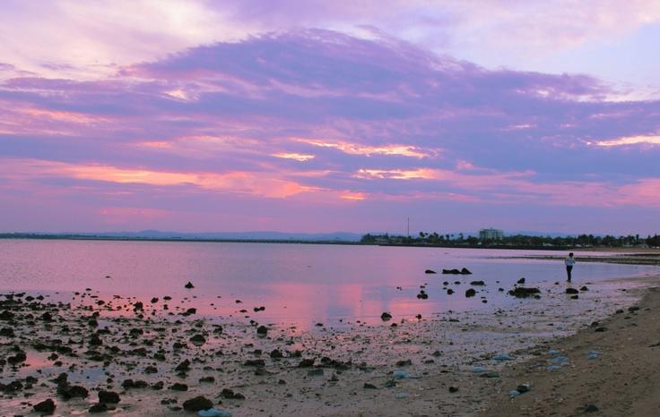 Pink Sunset Woody Point Queensland Australia