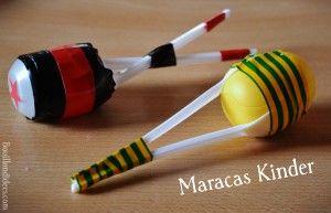 """DIY bricolage  spécial """"Fête de la musique"""" : Maracas Kinder"""