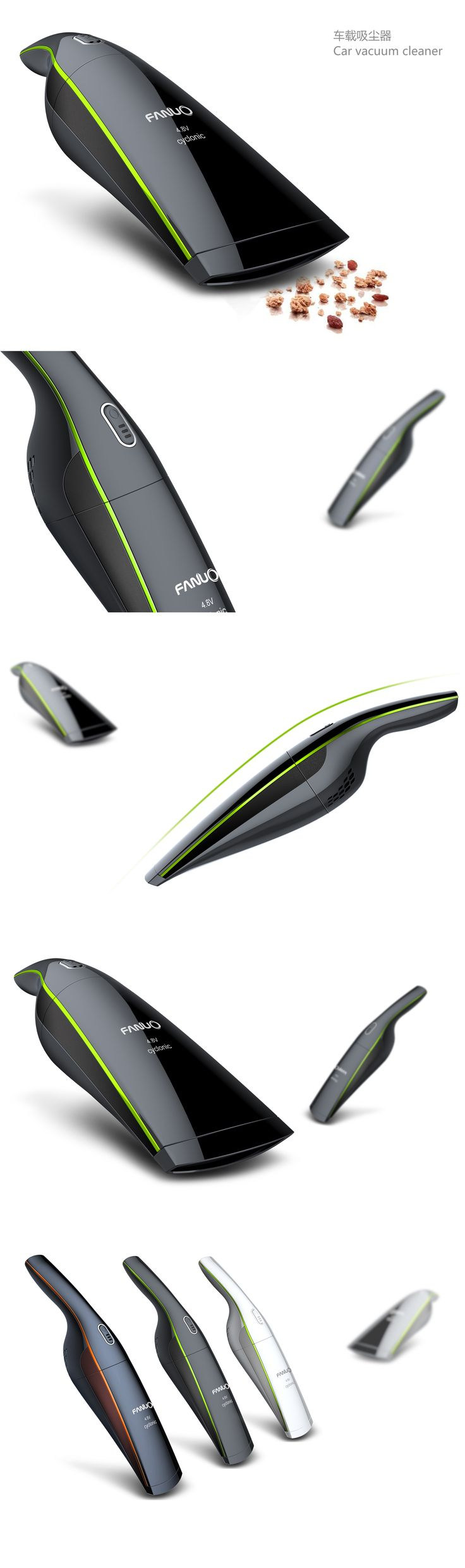 Car vacuum cleaner #ProductDesign IndustrialDesign #3DModeling Curated by Pentadesk.com