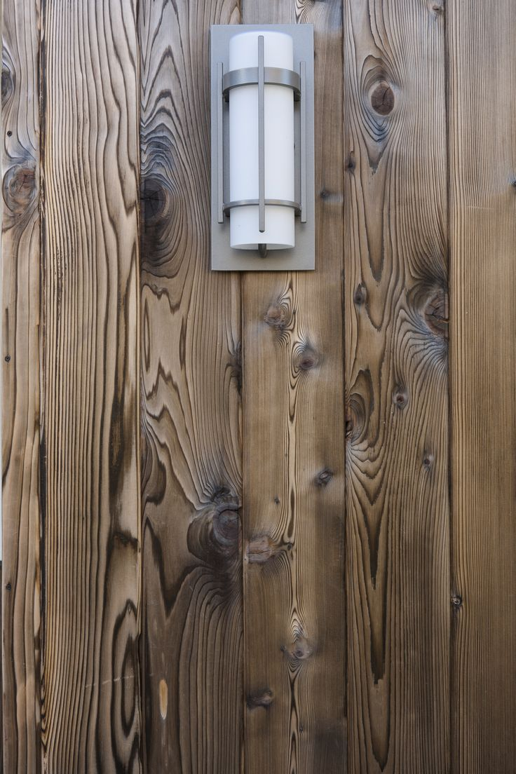 Burnt cedar siding in the style of some traditional Japanese houses