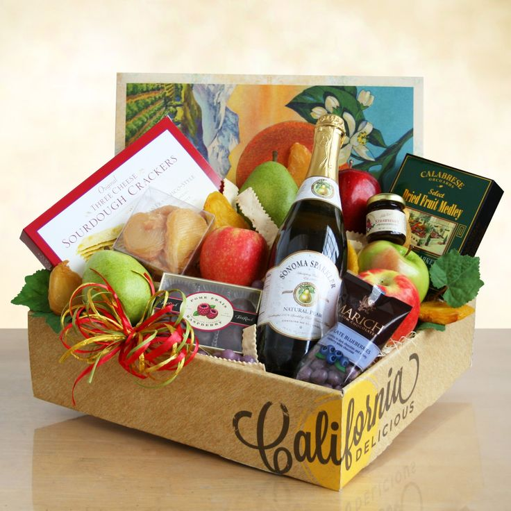 Sparkling Fruit Gift Basket by California Delicious - 4807