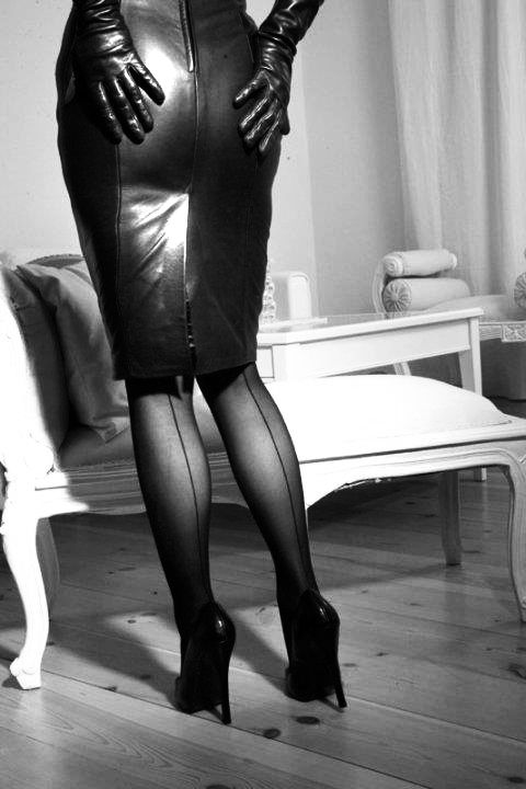 Leather on leather with heels