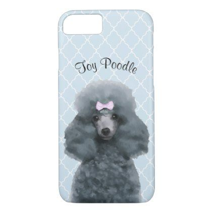 Toy Poodle Illustrated Cell Phone Case - diy cyo customize create your own personalize