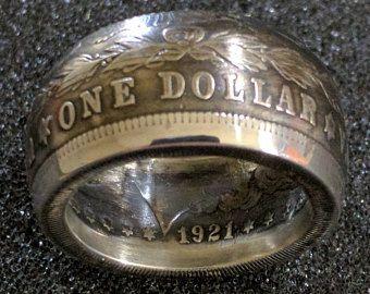 1921 Dollar en argent Morgan - tige en forme de dôme - vieilli finition