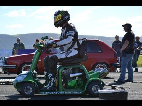GUINNESS WORLD RECORD! Fastest MOBILITY SCOOTER! Speed RECORD! 107MPH!1/4 mile - YouTube