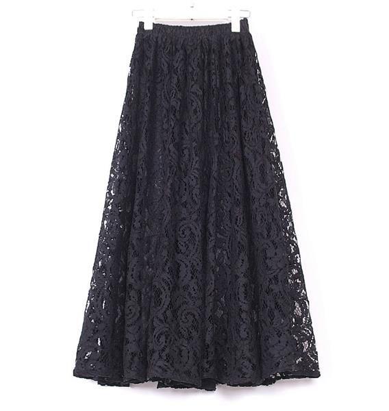Черная кружевная юбка купить недорого