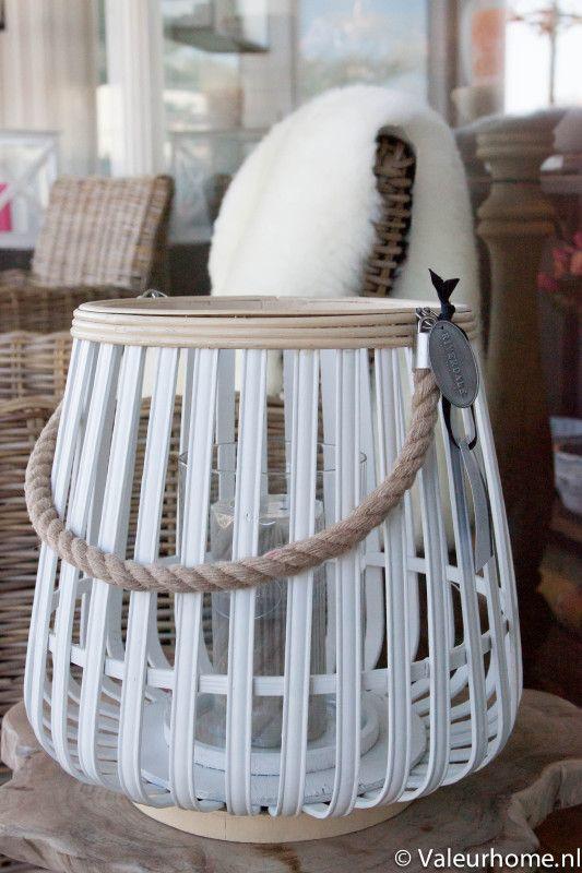 Riverdale Lantaarn Bamboo Nat/White 30