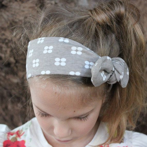 Baby Turban Headband grey headband Zara baby by ElleBelleBliss $11.50 AUD