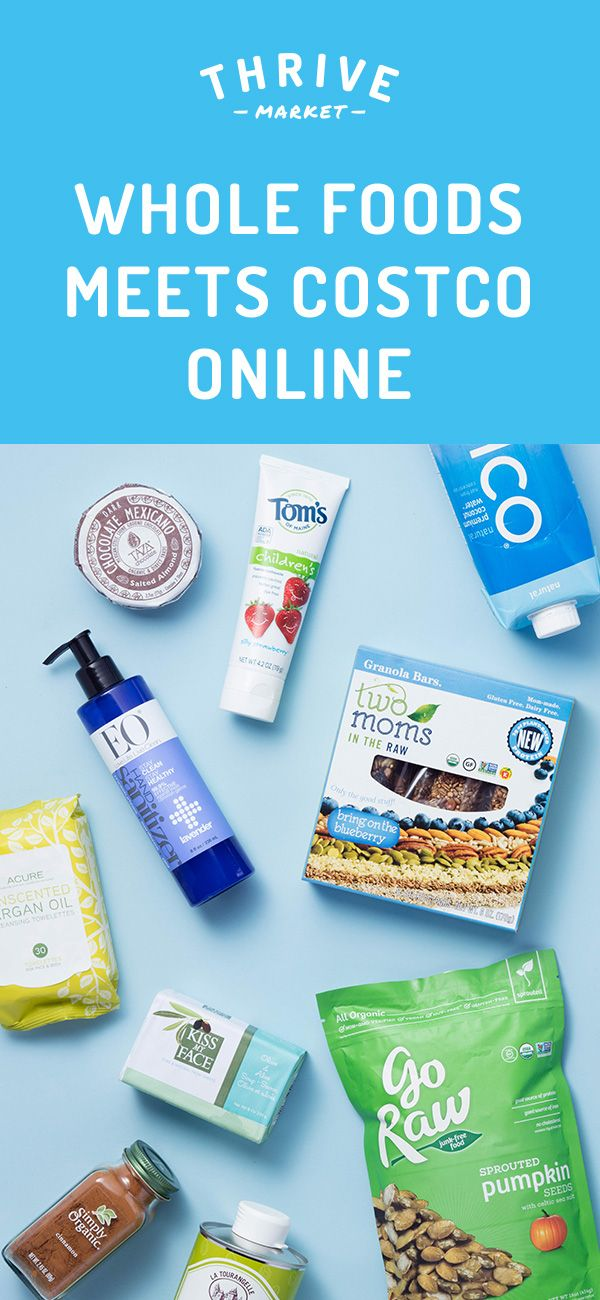 Thrive Market sells the healthiest products at a discount. Think Costco meets Whole Foods online! Try today and get 15% OFF your first order.