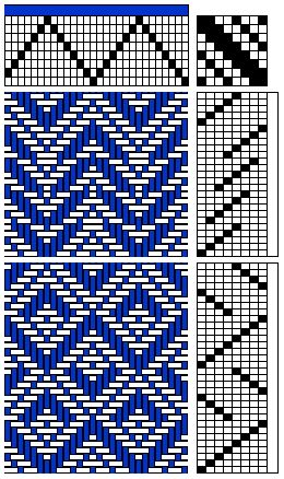 8-shaft weave draft ... tap through for more gamp drafts and info