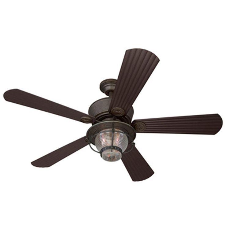 Ceiling fan light kit remote control : Harbor breeze merrimack in antique bronze outdoor