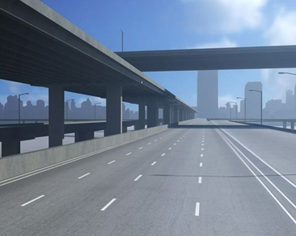 Freeway01  3D model and object for city modelling  #3D #3DModel