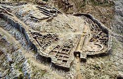 Mykene – Modell der Ruine