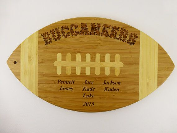 Commemorative Football Award Team Gift by DigiPointeLaserWorks