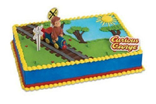 CURIOUS GEORGE Monkey Train DecoSet Birthday Cake Party Decoration Topper Set -- Continue to the product at the image link.