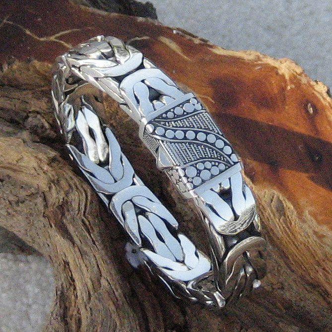 Great Gatsby Sterling Silver Men's Bracelet