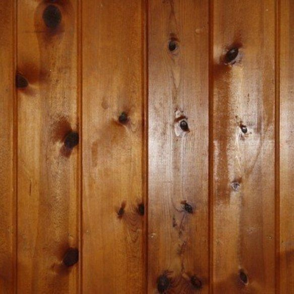 How to paint knotty pine paneling