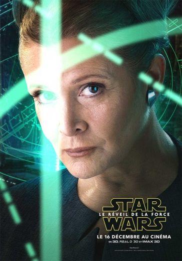 Star Wars - Le Réveil de la Force - Affiche Léia Organa