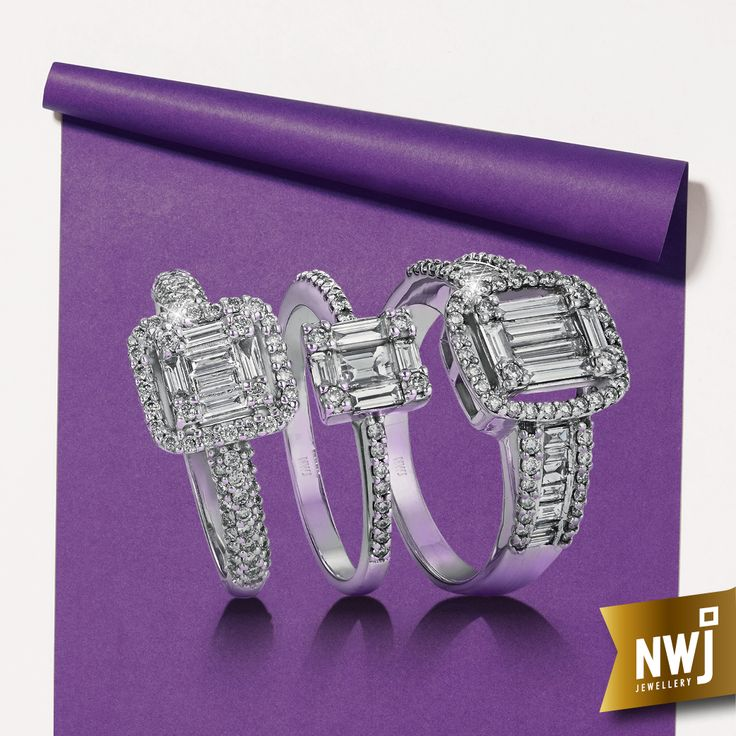 Baguette cuts - the perfect combination of style and grace. http://www.nwj.co.za/brochures/NWJ_Diamond_Collection2016/