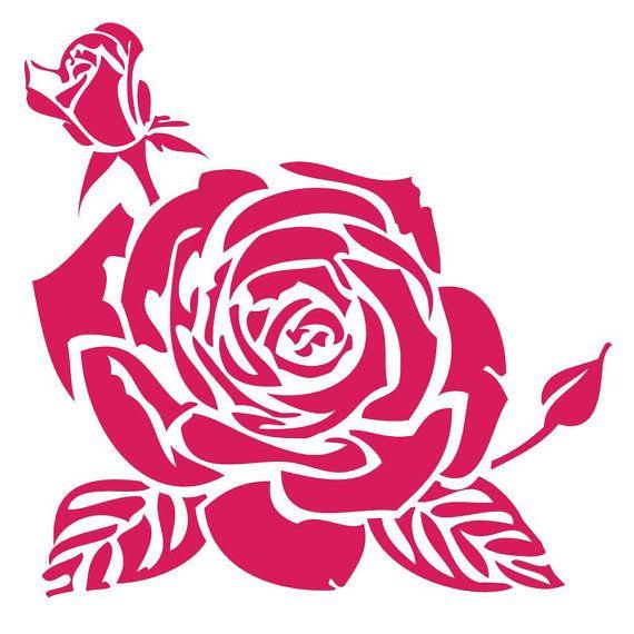 Rosas en Stencil reutilizable Laser-corte - pearldesignstudio                                                                                                                                                                                 Más